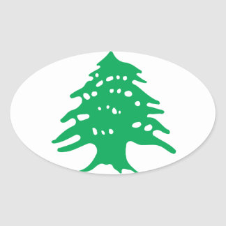 Low Cost! Lebanon Flag Oval Sticker