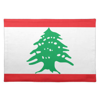 Low Cost! Lebanon Flag Placemat
