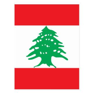 Low Cost! Lebanon Flag Postcard