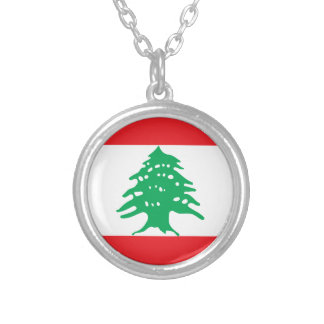 Low Cost! Lebanon Flag Silver Plated Necklace