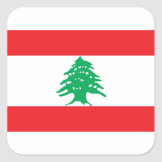 Low Cost! Lebanon Flag Square Sticker