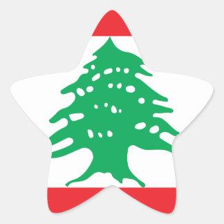 Low Cost! Lebanon Flag Star Sticker