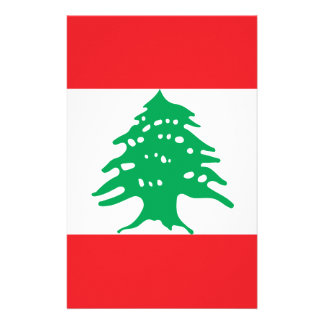 Low Cost! Lebanon Flag Stationery