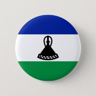 Low Cost! Lesotho Flag 2 Inch Round Button
