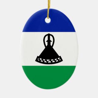 Low Cost! Lesotho Flag Ceramic Ornament