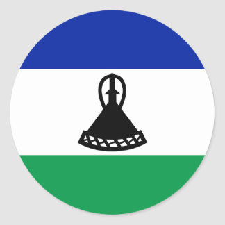 Low Cost! Lesotho Flag Classic Round Sticker