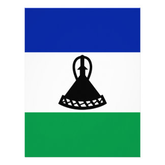 Low Cost! Lesotho Flag Letterhead