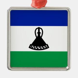 Low Cost! Lesotho Flag Metal Ornament