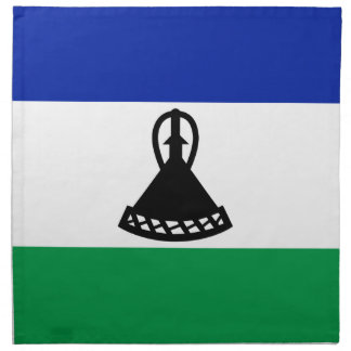 Low Cost! Lesotho Flag Napkin