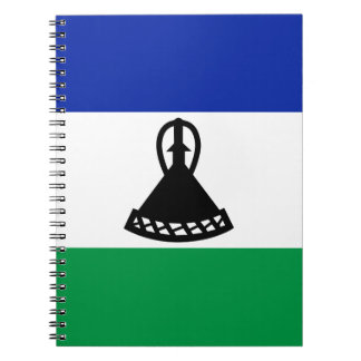 Low Cost! Lesotho Flag Notebook