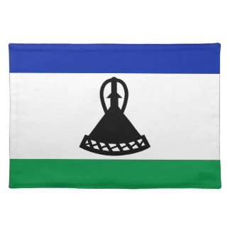 Low Cost! Lesotho Flag Placemat