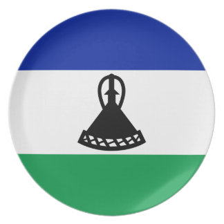 Low Cost! Lesotho Flag Plate