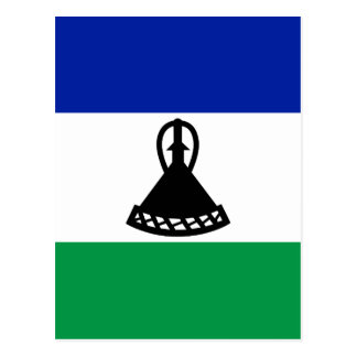Low Cost! Lesotho Flag Postcard