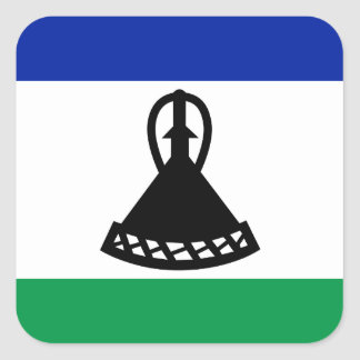 Low Cost! Lesotho Flag Square Sticker
