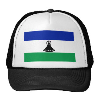 Low Cost! Lesotho Flag Trucker Hat