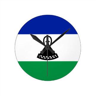 Low Cost! Lesotho Flag Wall Clocks