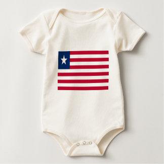Low Cost! Liberia Flag Baby Bodysuit