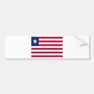 Low Cost! Liberia Flag Bumper Sticker