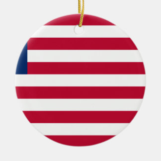 Low Cost! Liberia Flag Ceramic Ornament