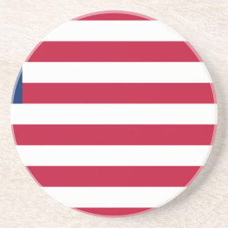 Low Cost! Liberia Flag Coaster
