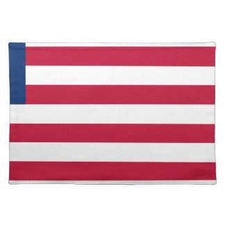 Low Cost! Liberia Flag Placemat