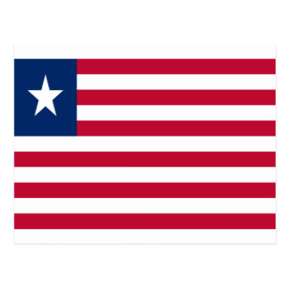 Low Cost! Liberia Flag Postcard