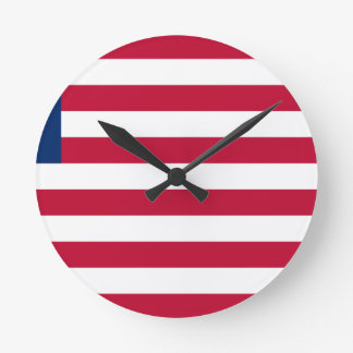 Low Cost! Liberia Flag Round Clock
