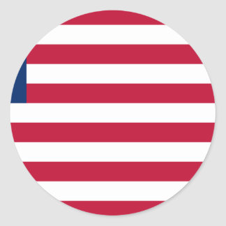 Low Cost! Liberia Flag Round Sticker