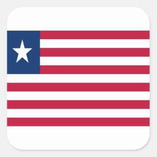 Low Cost! Liberia Flag Square Sticker