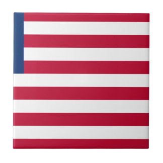 Low Cost! Liberia Flag Tile