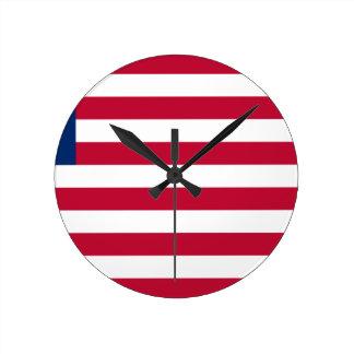 Low Cost! Liberia Flag Wall Clocks