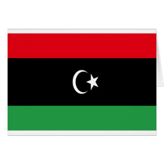 Low Cost! Libya Flag Card