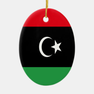 Low Cost! Libya Flag Ceramic Ornament