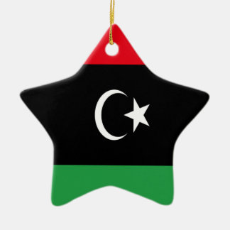 Low Cost! Libya Flag Ceramic Star Ornament