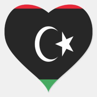 Low Cost! Libya Flag Heart Sticker