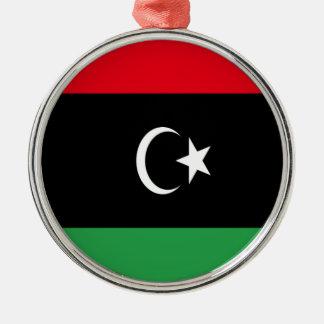 Low Cost! Libya Flag Metal Ornament
