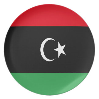 Low Cost! Libya Flag Party Plate