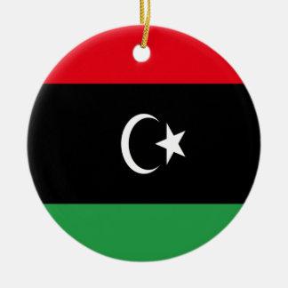 Low Cost! Libya Flag Round Ceramic Ornament