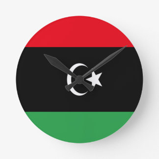 Low Cost! Libya Flag Round Clock