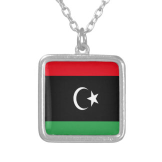 Low Cost! Libya Flag Silver Plated Necklace