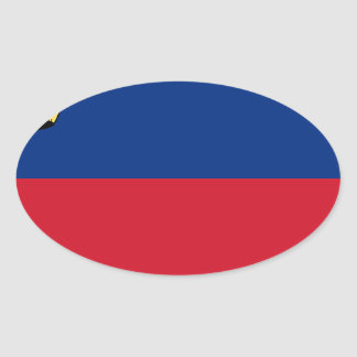 Low Cost! Liechtenstein Flag Oval Sticker