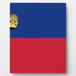 Low Cost! Liechtenstein Flag Plaque