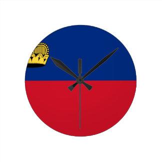 Low Cost! Liechtenstein Flag Round Clock