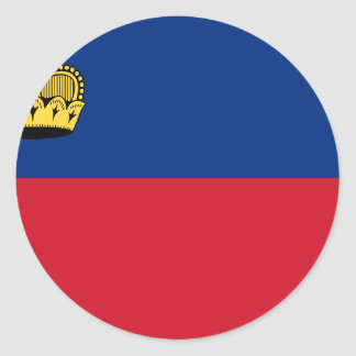Low Cost! Liechtenstein Flag Round Sticker