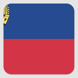 Low Cost! Liechtenstein Flag Square Sticker