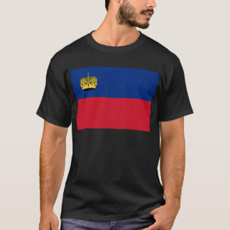 Low Cost! Liechtenstein Flag T-Shirt