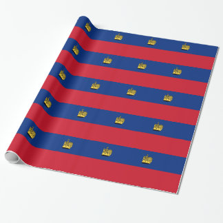 Low Cost! Liechtenstein Flag Wrapping Paper