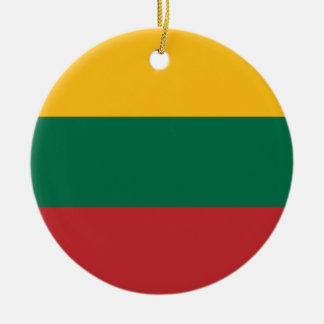 Low Cost! Lithuania Flag Ceramic Ornament