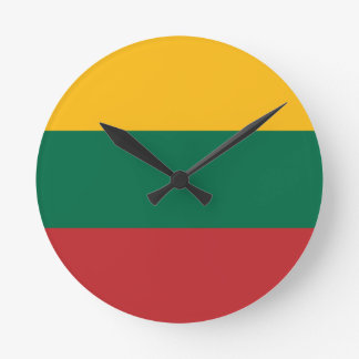 Low Cost! Lithuania Flag Clock