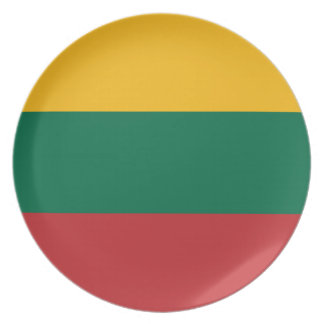 Low Cost! Lithuania Flag Plate